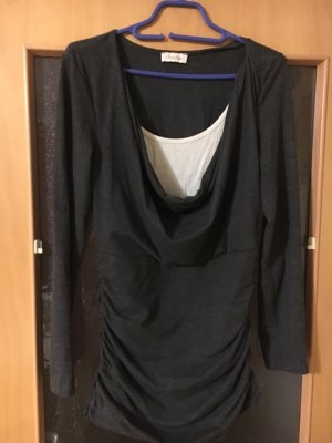 Aniston Waterval shirt wit-antraciet