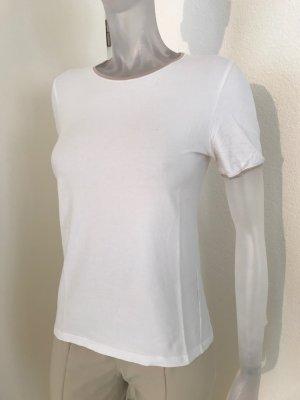 Shirt, weiß mit beiger Kante von  Brunello Cucinelli