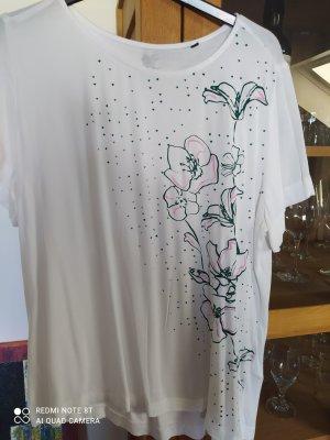 Bonita Camicia a tunica bianco-verde bosco Viscosa