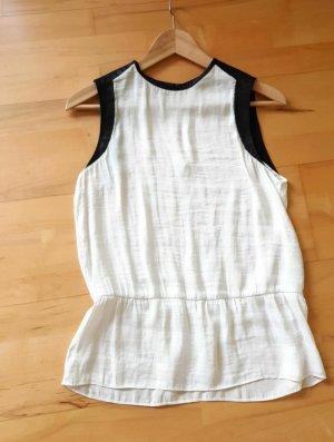 Shirt weiß schwarz von Zara Gr.S