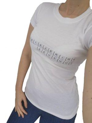 Shirt weiß T-shirt #wirbleibenzuhause xs