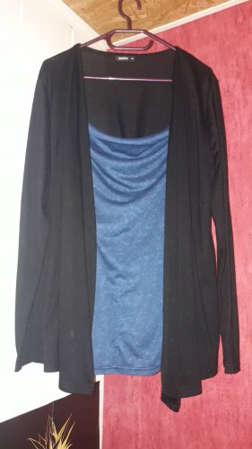 Janina Top col bénitier noir-bleu