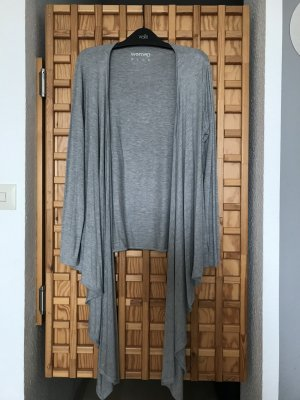 Tchibo / TCM Wraparound Shirt light grey viscose
