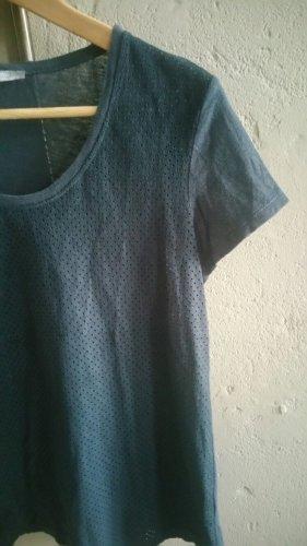 Shirt Zara S 36 (XS/34) dunkelblau Lochstanzung