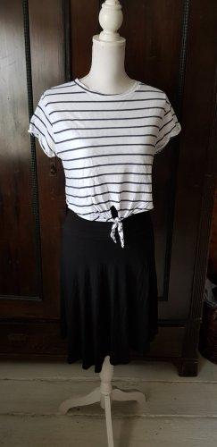 BSKGIRL Bershka Stripe Shirt white-black