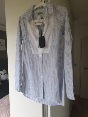 Shirtbluse bau/weiß