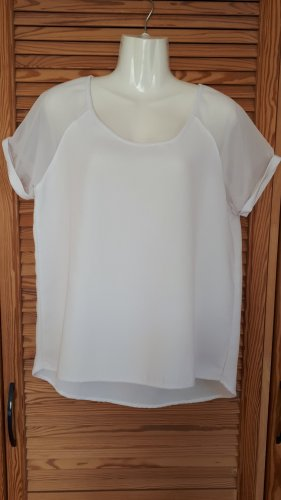 Blouse brillante blanc