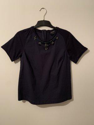 Shirtbluse mit Schmuck ''S Max Mara , Größe M , dunkelblau