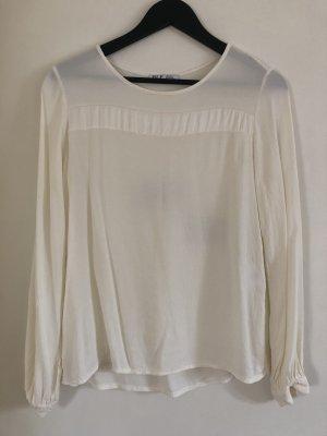 Bleifrei Transparante blouse wolwit-room Viscose