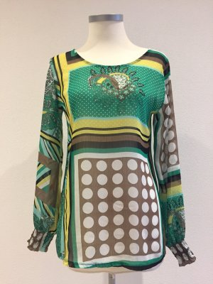 Chilli Transparante blouse geel-groen