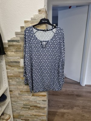 Olsen Blouse Shirt white-steel blue