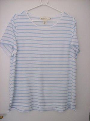 Shirtbluse weiß-hellblau-gestreift von H&M L.O.G.G.