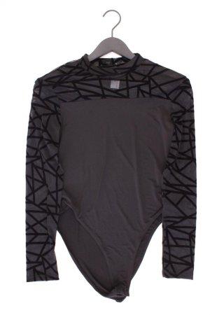 Shirtbody Größe L geometrisches Muster Langarm schwarz aus Polyester