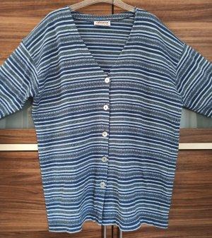 Olsen Collection Chaqueta estilo camisa azul pálido-azul acero