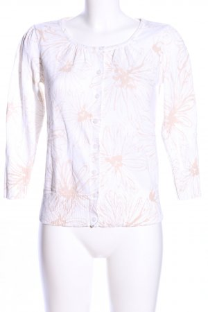 Shirt Jacket white-cream flower pattern simple style