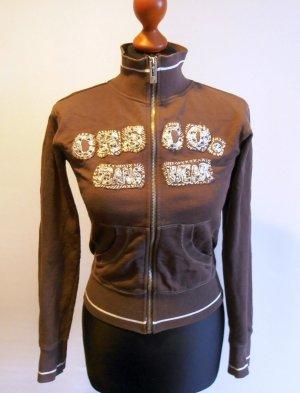 Shirtjacke mit Pailletten und Perlenstickerei von Cross Jeanswear, Gr. S