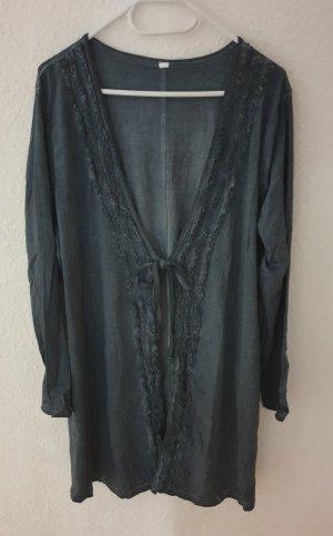 Sheego Giacca-camicia grigio ardesia