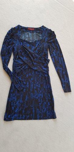 Sukienka o kroju koszulki niebieski-ciemnozielony