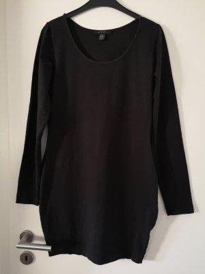 Amisu Vestido estilo camisa negro