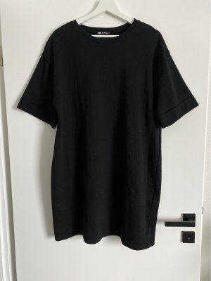 Zara Vestido estilo camisa negro