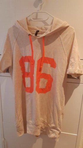 AC Sukienka o kroju koszulki jasnobeżowy-pomarańczowy neonowy