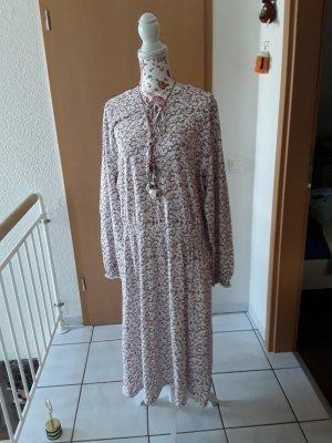 bpc bonprix collection Sukienka z długim rękawem biały-stary róż