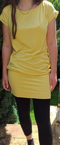 Hallhuber Vestido estilo camisa amarillo