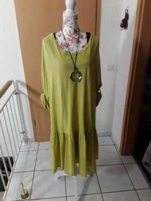 Made in Italy Robe t-shirt jaune citron vert
