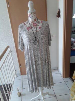 bpc Sukienka o kroju koszulki biały-szary