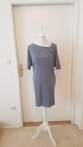 Shirtkleid grau-blau Größe 38