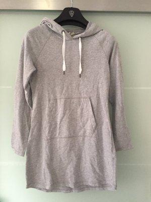 H&M Robe à capuche gris clair-blanc
