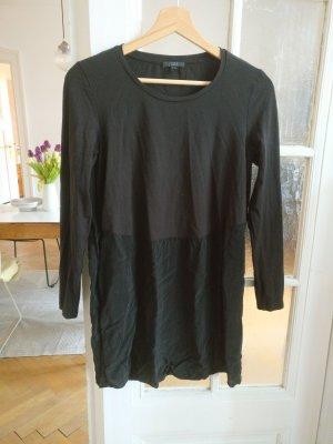 COS Vestido estilo camisa negro cupro