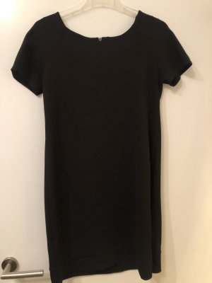 Shirtkleid mit kurzen Ärmeln schwarz in XS