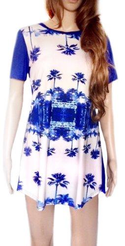 Shirtkleid mit Palmenaufdruck