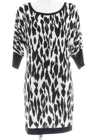 Shirtkleid schwarz-weiß abstraktes Muster Casual-Look