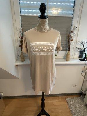 Boohoo Shirt Dress beige-white viscose