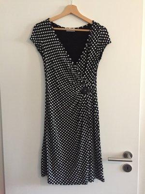 Cache & Cache Kopertowa sukienka biały-czarny