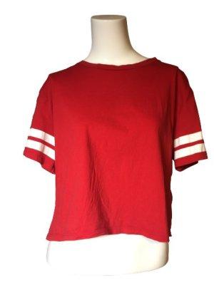 devided Basic Shirt brick red-dark red