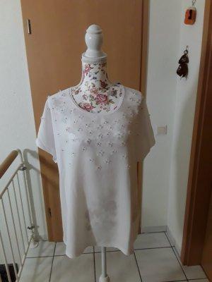 Canda Camicia a tunica bianco-argento