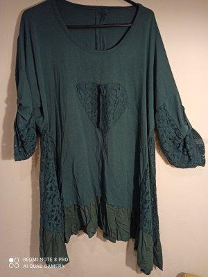 Camicia a tunica verde scuro