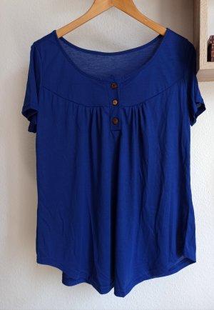 Camisa tipo túnica azul