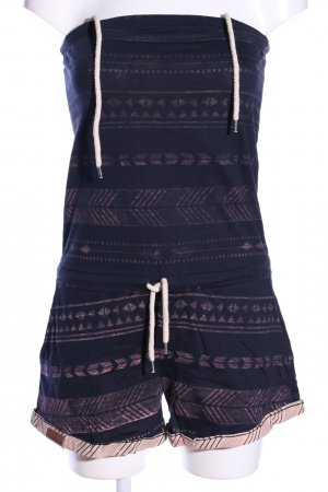 Shisha Jumpsuit blau-pink grafisches Muster Casual-Look