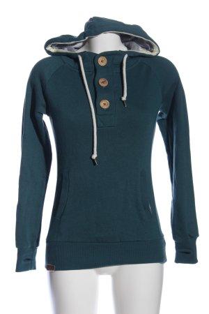 Shisha Hooded Sweatshirt blue casual look
