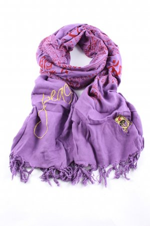 Shiva Shoulder Scarf lilac-red allover print casual look
