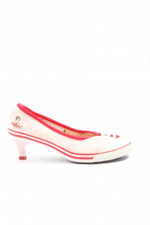 Shivadiva Loafers natural white-red themed print casual look
