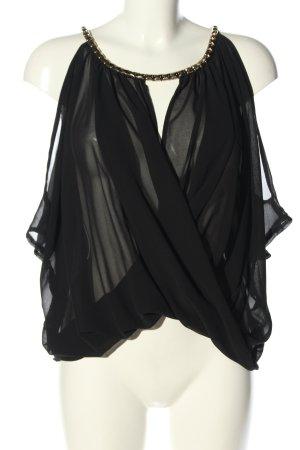 SHK Mode ärmellose Bluse schwarz Elegant