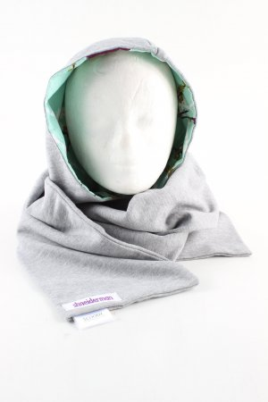 Shneiderman Hooded Scarf light grey-turquoise allover print casual look