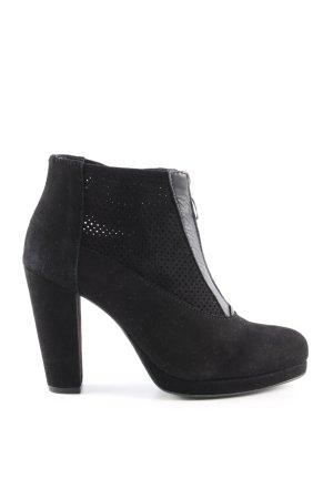Shoe Biz Copenhagen Zipper Booties black business style