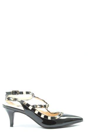Shoe Biz Copenhagen Czółenka ze spiczastym noskiem czarny Elegancki