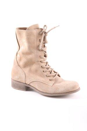 Shoe Colate Stivaletto stringato bianco sporco stile casual